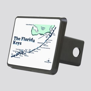 Florida Keys - Map Design. Rectangular Hitch Cover
