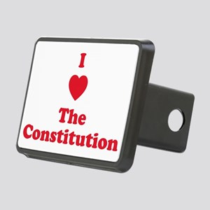 I Heart The Constitution Rectangular Hitch Cover