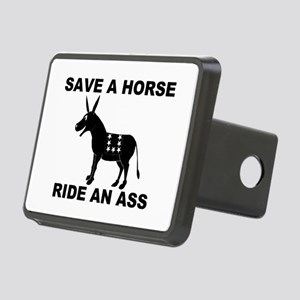 SAVE A HORSE RIDE AN ASS Rectangular Hitch Cover