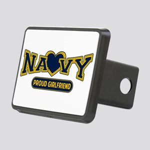 Proud Navy Girlfriend Rectangular Hitch Cover