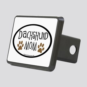 Dachshund Mom Oval Rectangular Hitch Cover