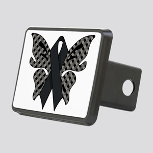 BLACK RIBBON Rectangular Hitch Cover