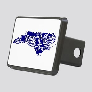 Blue Paisley Rectangular Hitch Cover