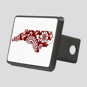 Red Paisley Rectangular Hitch Cover