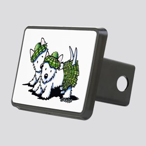 KiniArt Westie Kilted Duo Rectangular Hitch Cover
