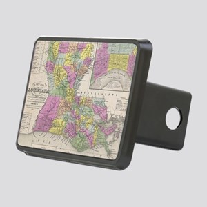 Vintage Map of Louisiana ( Rectangular Hitch Cover