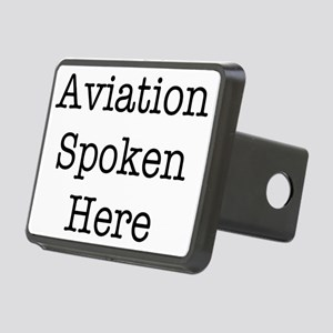 Aviation Spoken Here Rectangular Hitch Cover