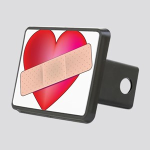 heart bandaid Rectangular Hitch Cover