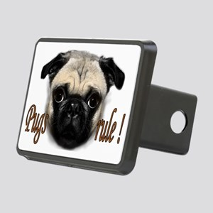 pugs rule Rectangular Hitch Cover