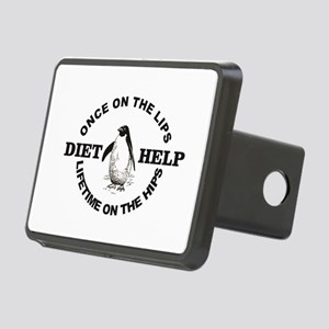 penguin diet help Rectangular Hitch Cover