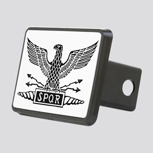 Roman Eagle 2 Basic Blk Rectangular Hitch Cover