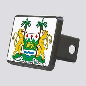Sierra Leone Coat Of Arms Rectangular Hitch Cover