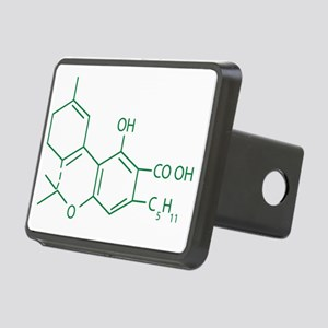 THC Molecule Rectangular Hitch Cover