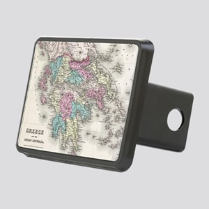 Vintage Map of Greece (185 Rectangular Hitch Cover