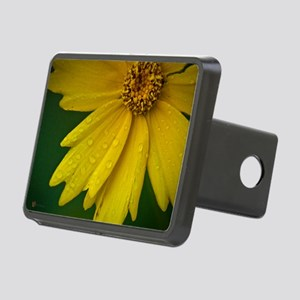 june yellow flowe8x10r Rectangular Hitch Cover