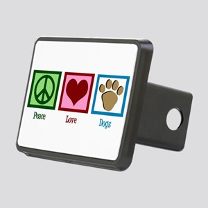 Peace Love Dogs Rectangular Hitch Cover
