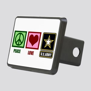 Peace Love Army Rectangular Hitch Cover