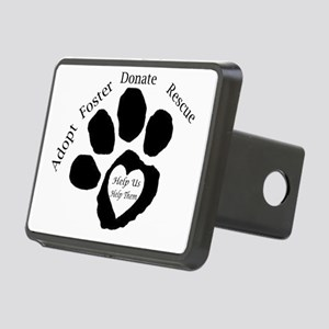 Paw Print Rectangular Hitch Cover
