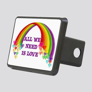 All We Need Is Love Rectangular Hitch Cover