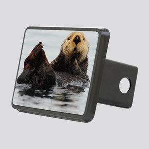 115x9_calender_otter_1 Rectangular Hitch Cover