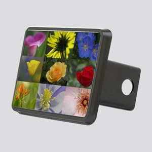 Flower Collage Rectangular Hitch Cover