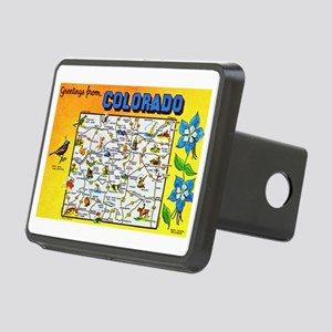 Colorado Map Greetings Rectangular Hitch Cover