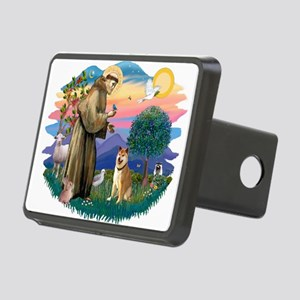 St Francis #2/ Shiba Inu Rectangular Hitch Cover