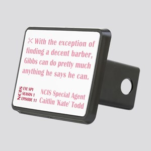 DECENT BARBER Rectangular Hitch Cover