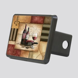 wine and chocolate 2 Rectangular Hitch Cover