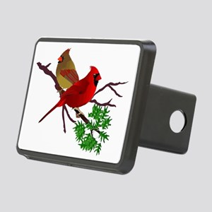 Cardinal Couple on a Branc Rectangular Hitch Cover