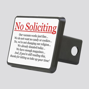 No Soliciting Rectangular Hitch Cover