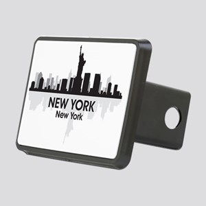 New York Skyline Rectangular Hitch Cover
