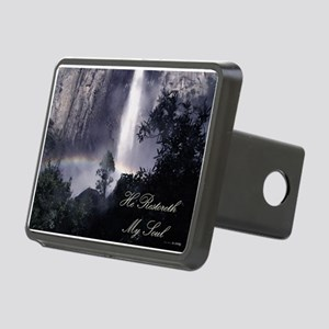 He Restoreth My Soul Rectangular Hitch Cover