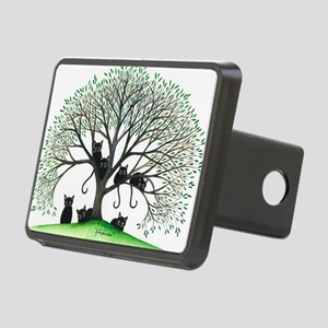 Borders Black Cats in Tree Rectangular Hitch Cover