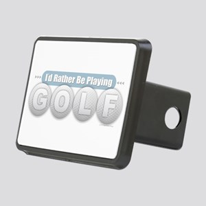 Rather Be Playing Golf Rectangular Hitch Cover