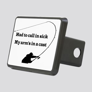 HAND TO CALL IN SICK Rectangular Hitch Cover