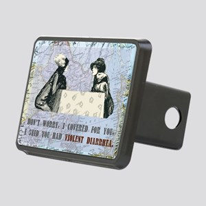 newCard violent diarrhea Rectangular Hitch Cover