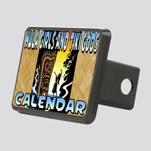 Hula Girls and Tiki Gods C Rectangular Hitch Cover