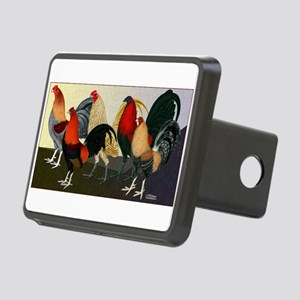 Rooster Dream Team Rectangular Hitch Cover