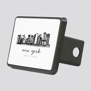 New York City Skyline Rectangular Hitch Cover