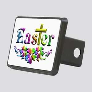 Easter Cross and Flowers Rectangular Hitch Cover