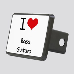 I Love Bass Guitars Hitch Cover