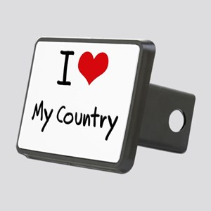 I love My Country Hitch Cover