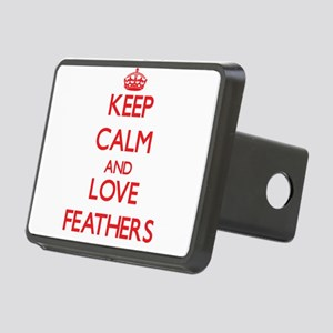 Keep calm and love Feathers Hitch Cover