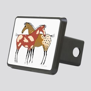Two Horse Appaloosa & Paint Design Hitch Cover
