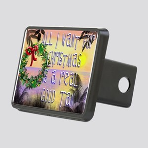 Beachy Christmas Rectangular Hitch Cover
