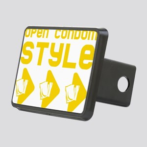 Open Condom Style Rectangular Hitch Cover