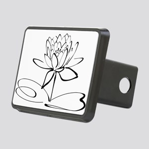 Sketch Outline of Lotus Bl Rectangular Hitch Cover