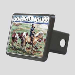Iceland 1997 Overland Post Rectangular Hitch Cover