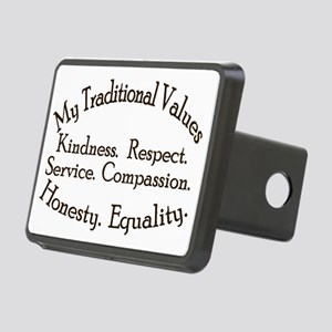 My Traditional Values Old  Rectangular Hitch Cover